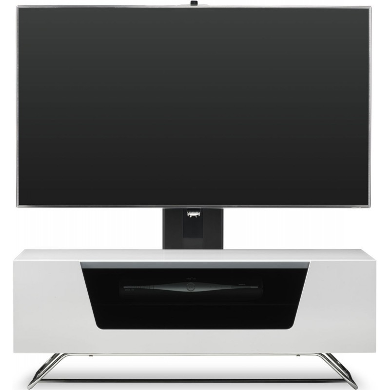 Alphason chromium 2 1200mm avec support tv integre - Meuble tv avec support integre ...