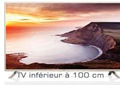 TV inférieur à 100 cm