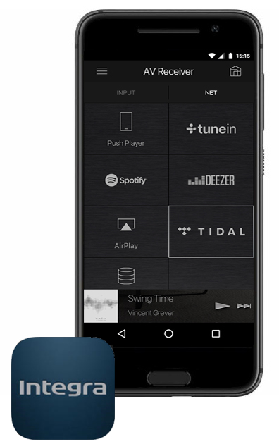 INTEGRA DRX7, application gratuite pour le streaming audio