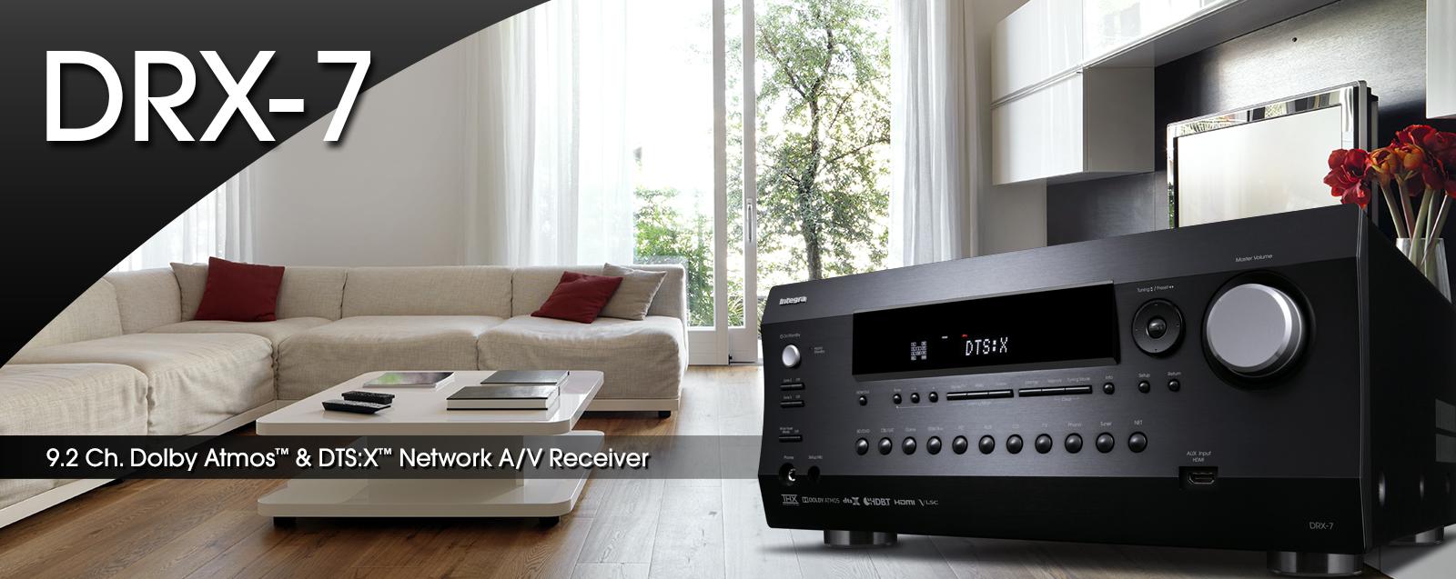 Amplificateur AV 9.2, Dolby Atmos, DTS:X, HDMI 2.0a, AccuEQ, Intégra DRX-7