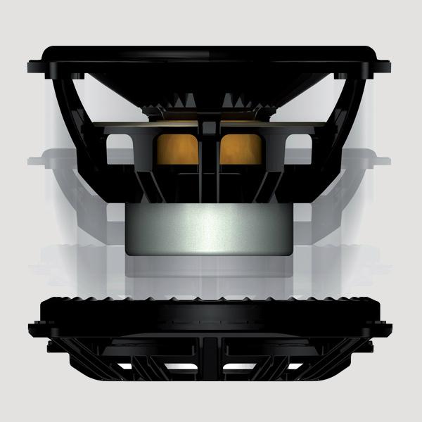 KEF T101, haut parleur extra plat