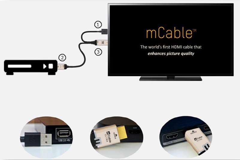 Marseille mCable, passthrough HDMI 2.0, PCM, DSD, DTS et Dolby