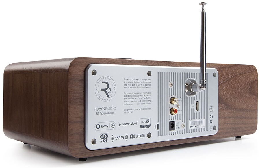 ystème HiFi tout-en-un, WiFi, FM, DAB et Bluetooth Ruark Audio R2 MK3