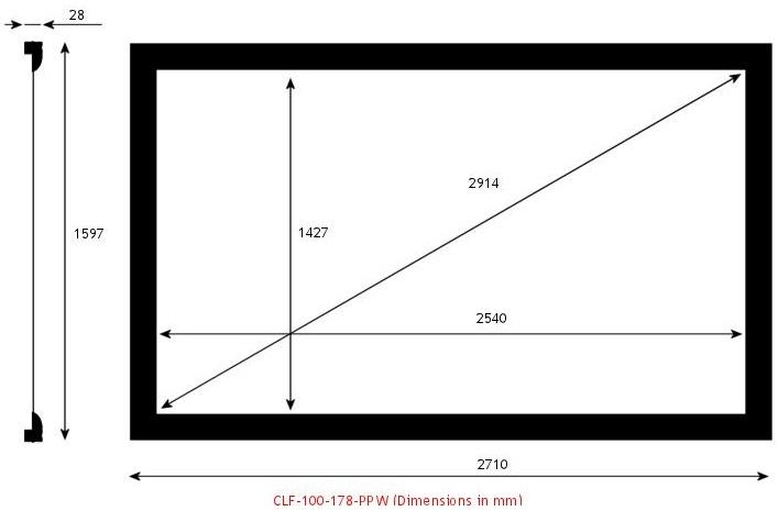 Screen Research CLF-100-178-PPW, écran de projection transonore
