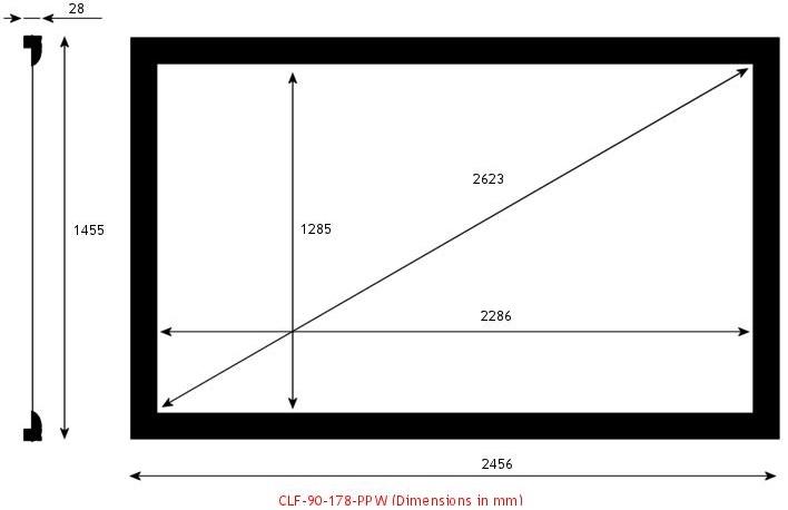 Screen Research CLF-90-178-PPW, écran de projection transonore