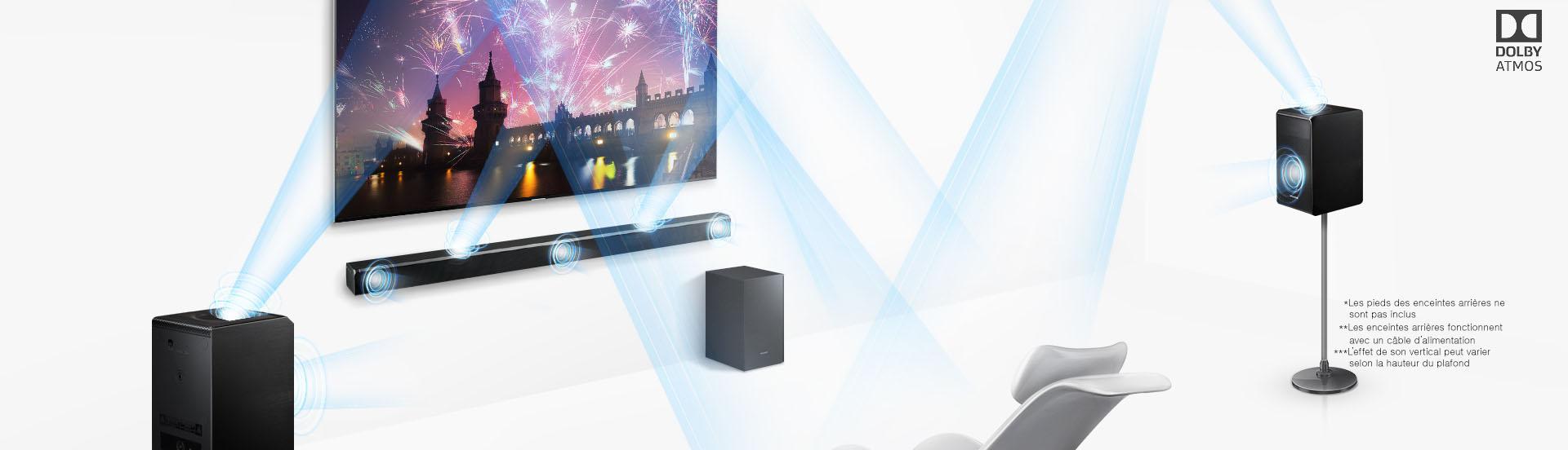 Barre de son Samsung HW-K950 : Technologie Dolby Atmos 5.1.4