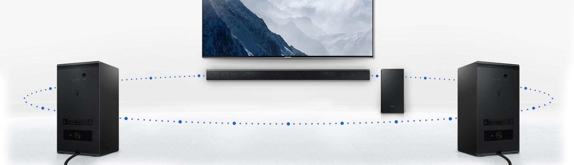Communication sans fil de la barre de son Samsung HW-K950