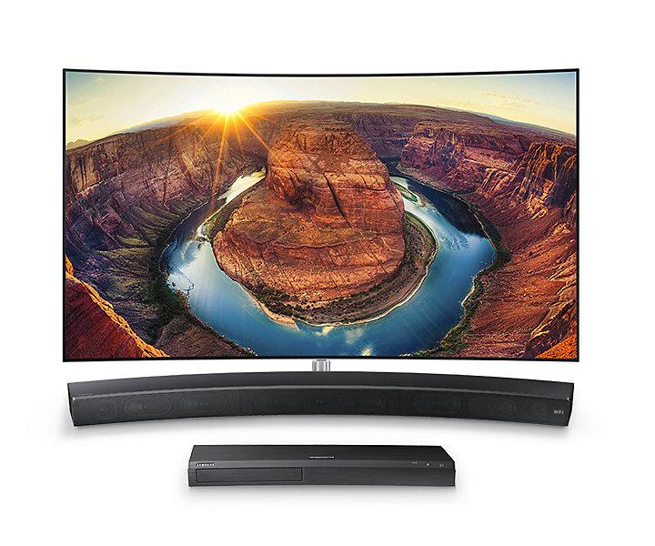Samsung HW-MS6501, Barre de son incurvée Sound+ 3.0, caisson de basse intégré, Wi-Fi, Bluetooth