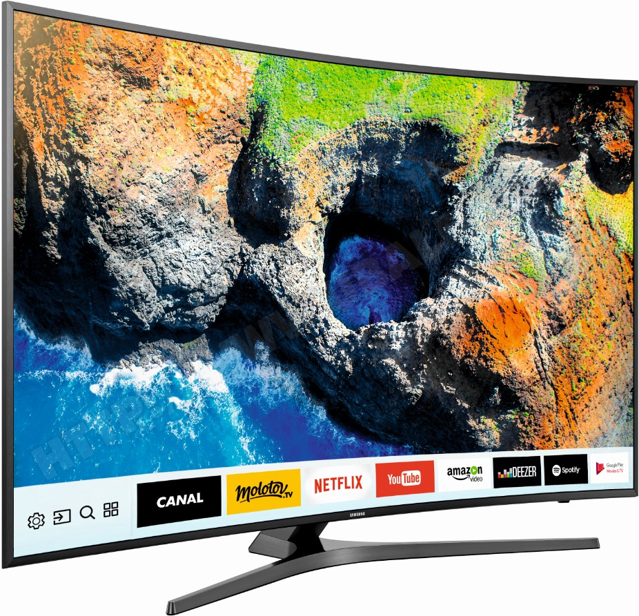 TV Ultra Haute Définition 65'', Ecran Curve, Smart TV, 1700 PQI, SAMSUNG UE65MU6645