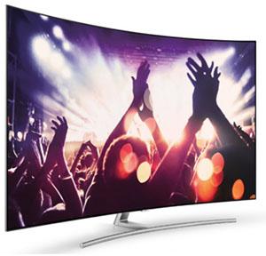 Vue de côté du téléviseur QLED Samsung Q8C