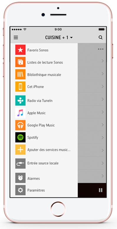 SONOS PLAYBASE, application multiroom gratuite