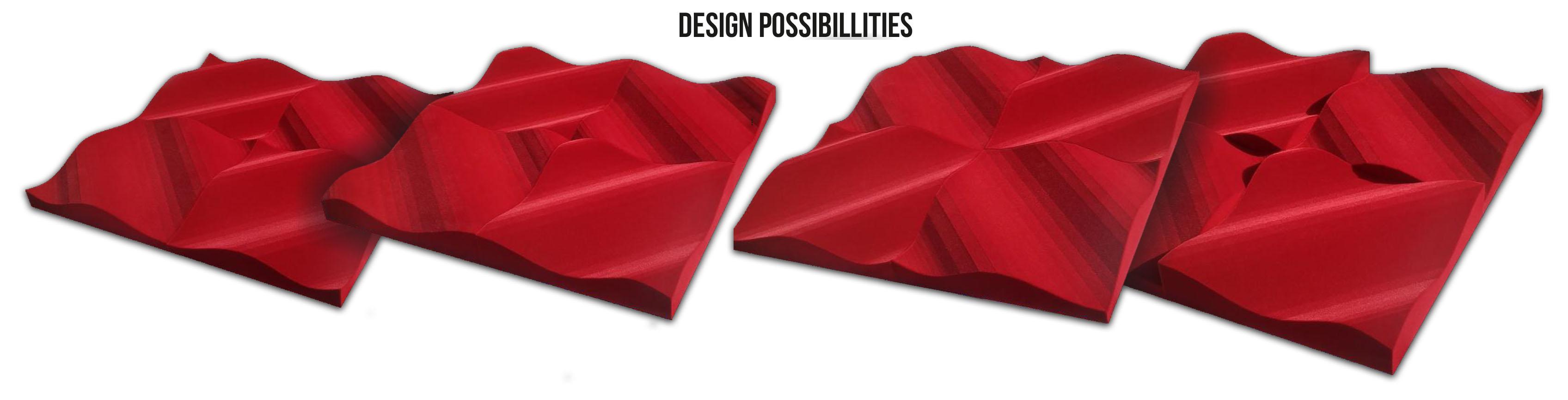 Type d'implantation du pack de panneaux acoustiques absorbants Leviter STM