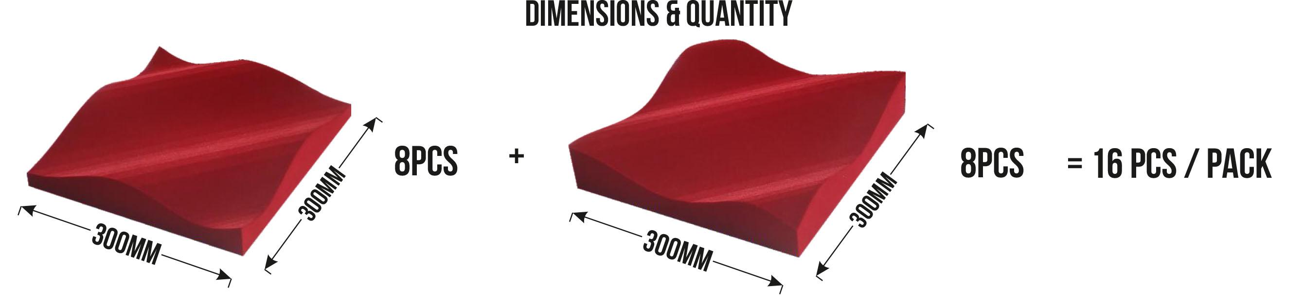 Composition du pack de panneaux acoustiques absorbants Leviter STM