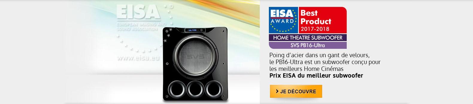 Prix EISA du meilleur caisson de graves 2017-2018 pour le SVS PB16-Ultra
