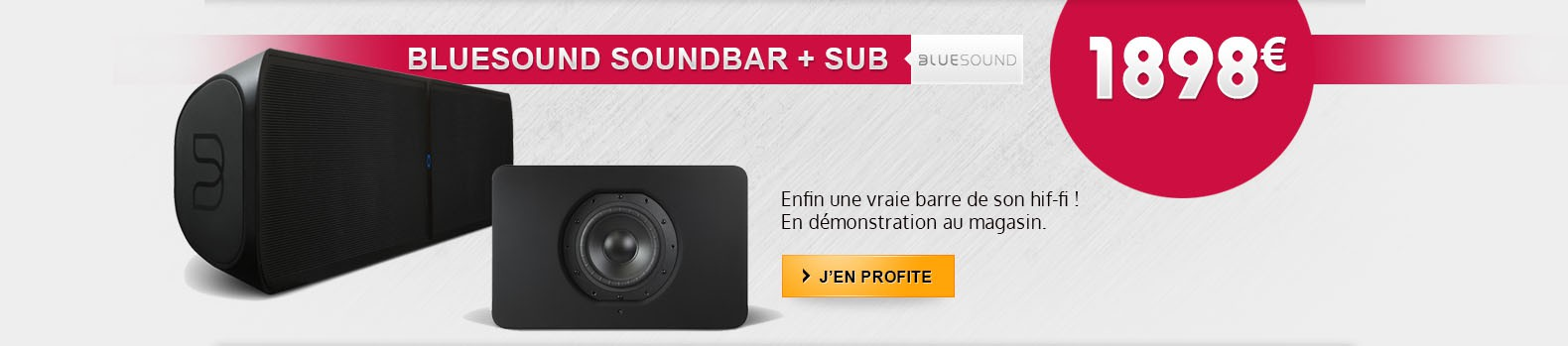 Nouveau barre sonore Bluesound Pulse