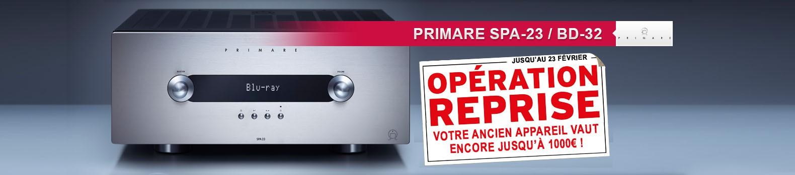 Opération reprise sur amplificateur home cinéma et lecteur blu-ray Primare