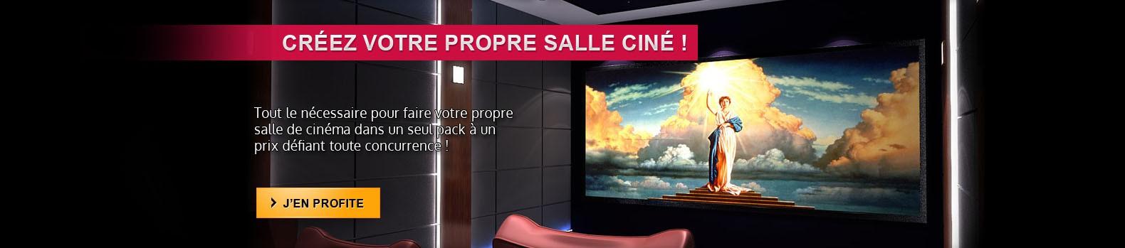 Grâce à notre kit, concevez votre propre salle de cinéma chez vous !