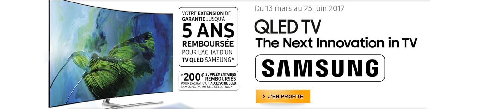 Samsung vous rembourse la garantie 5 ans sur tous ses nouveaux TV QLED !