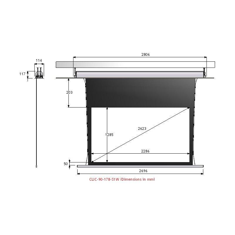 ecran de projection lectrique tensionn screen research classic clic. Black Bedroom Furniture Sets. Home Design Ideas