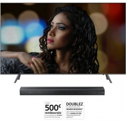 Pack TV QLED 4K SAMSUNG QE65Q6F 2018 + barre son SAMSUNG HW-MS650