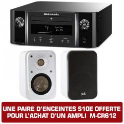 pack enceintes bibliothèques + amplificateur intégré MARANTZ M-CR612 + S10e