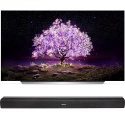 Téléviseur OLED UHD-4K 139 cm  LG OLED55C1 + BARRE DE SON DENON DHT-S216 OFFERTE
