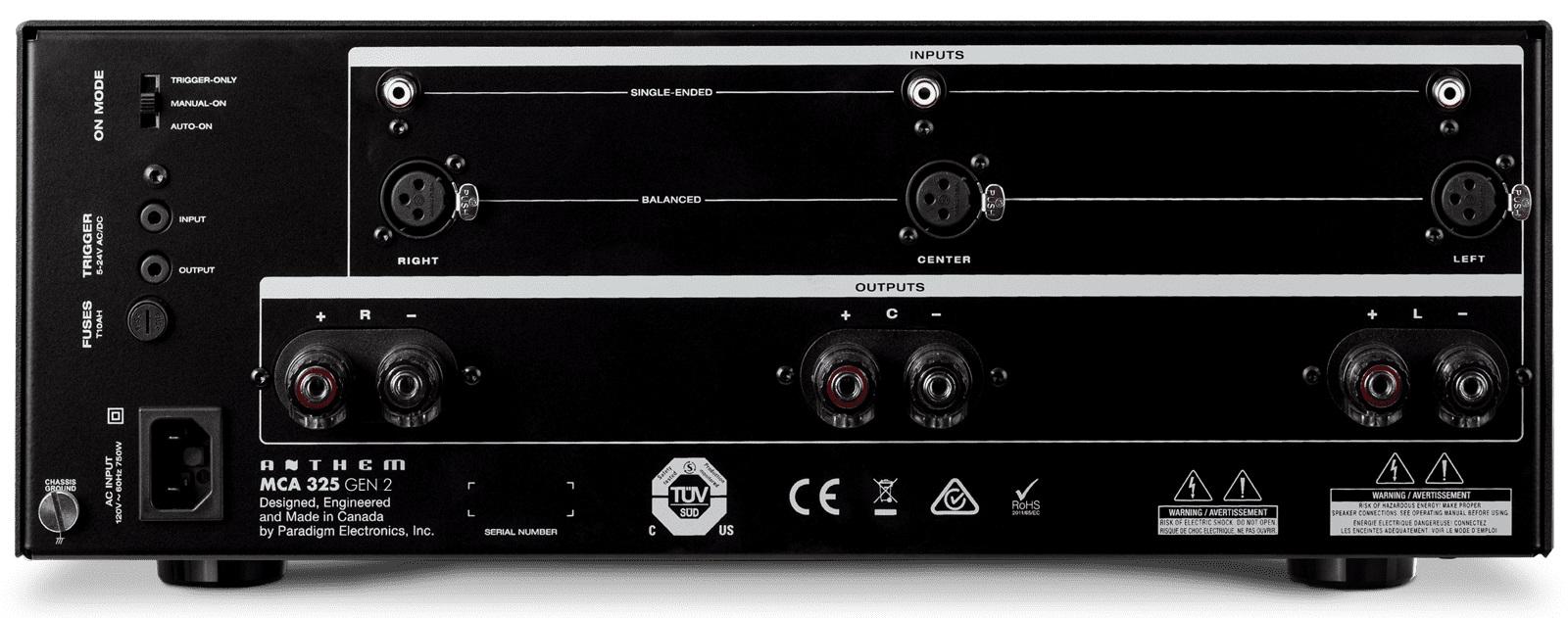 Amplificateur stéréo Anthem MCA325 V2