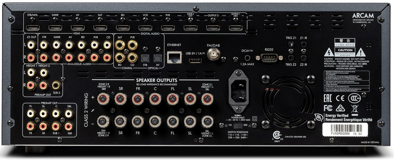 Amplificateur Dolby Atmos, décodage 7.1.4, Dirac Live, Arcam AVR550