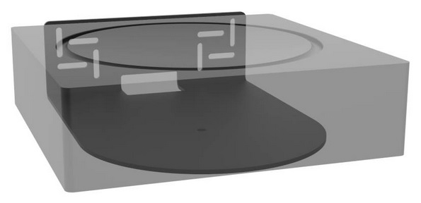 SUPPORT MURAL HORIZONTAL POUR SONOS AMP