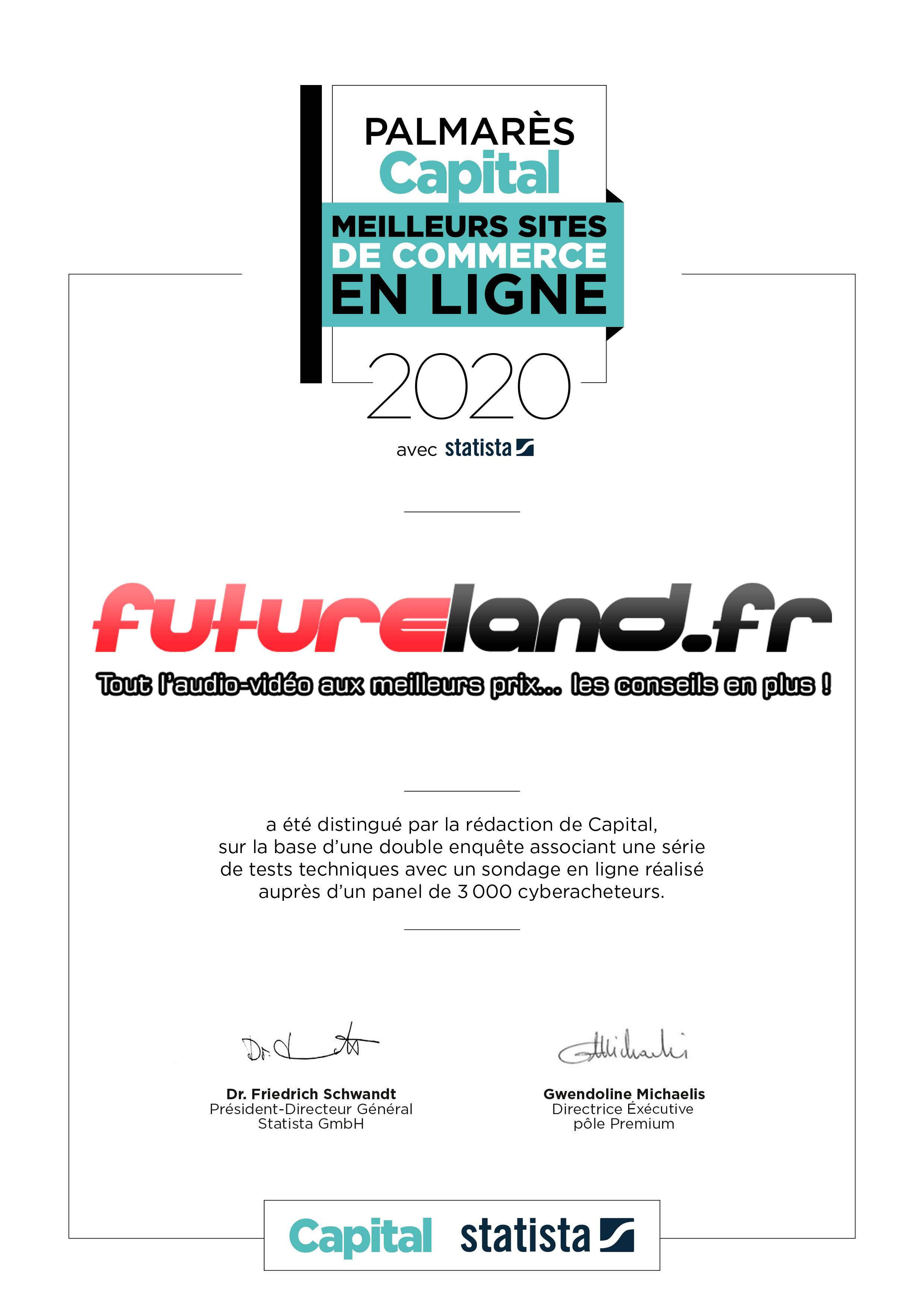certificat meilleur site e-commerce 2020 Capital