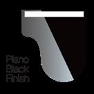 Finition noire laquée piano