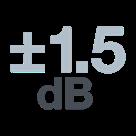 Réponse en fréquence précise à +/-1.5dB