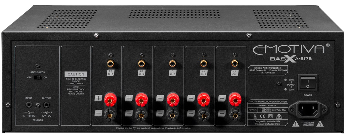 EMOTIVA BASX A5175, amplificateur 5 canaux