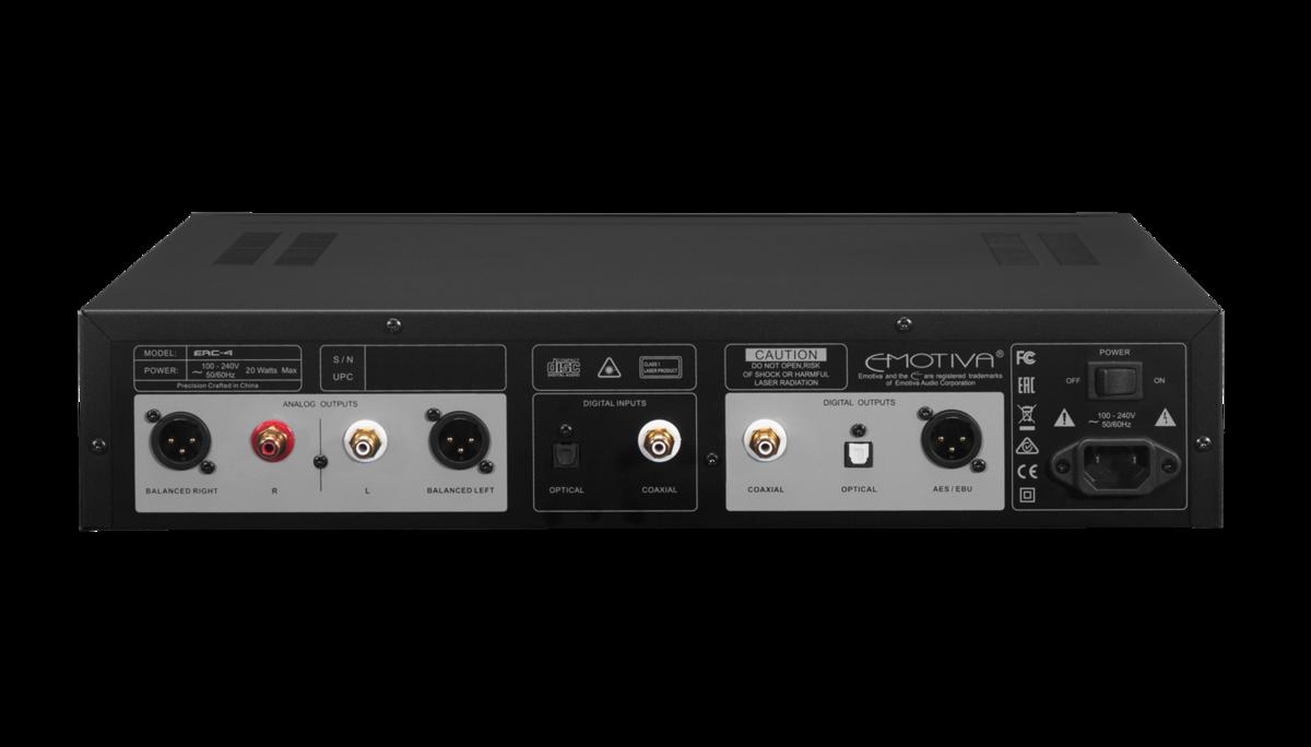 Lecteur audio CD, transport numérique, Emotiva ERC-4