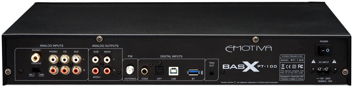 Emotiva PT100, préamplificateur entrée USB