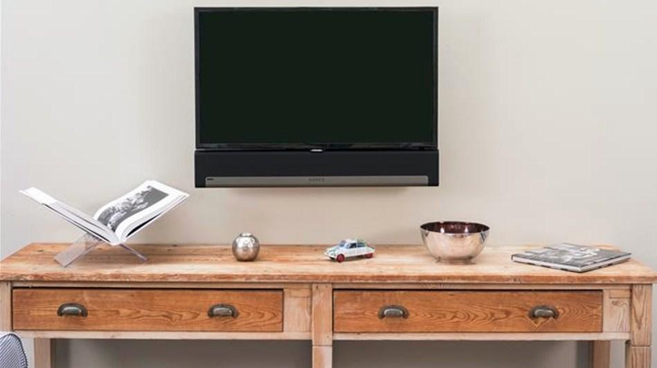 SUPPORT MURAL FIXE POUR TV ET SONOS PLAYBAR