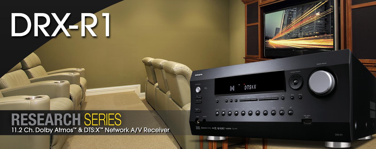 Amplificateur AV 11.2, Dolby Atmos, DTS:X, HDMI 2.0a, AccuEQ, Intégra DRX-R1