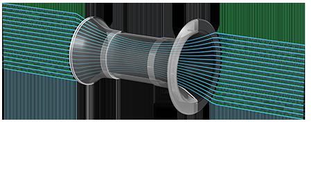 Paire d'enceintes bibliothèque, 2 voies Bass-reflex, haut-parleur coaxial, KEF Q350