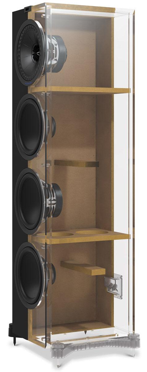 Paire d'enceintes colonne, 2.5 voies Bass-reflex, haut-parleur coaxial, KEF Q950