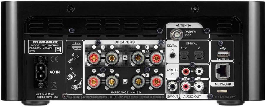 MARANTZ MCR612, port USB, RJ45 et double sortie haut-parleurs