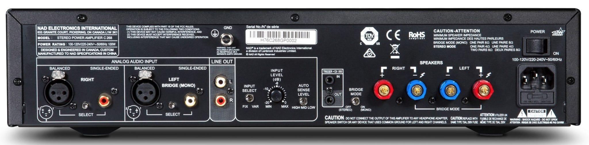 Amplificateur de puissance stéréo/mono, NAD C268