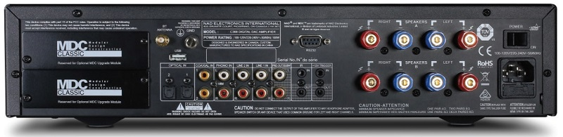NAD C368, amplificateur Stéréo USB 24/192 asynchrone