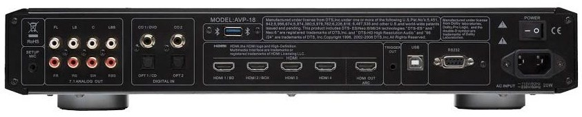 Processeur A/V - Hdmi 1.4 - Dolby HD -DTS Master