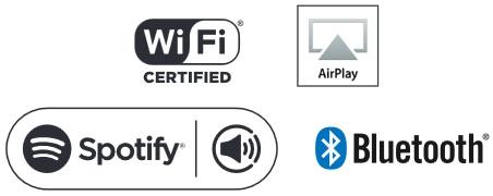 Onkyo TX-NR676, Wi-Fi, AirPlay,  Spotify et Bluetooth