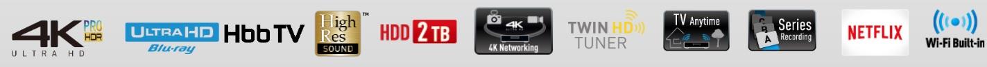 Lecteur enregistreur Blu-ray UHD Double Tuner TNT HD 2 To