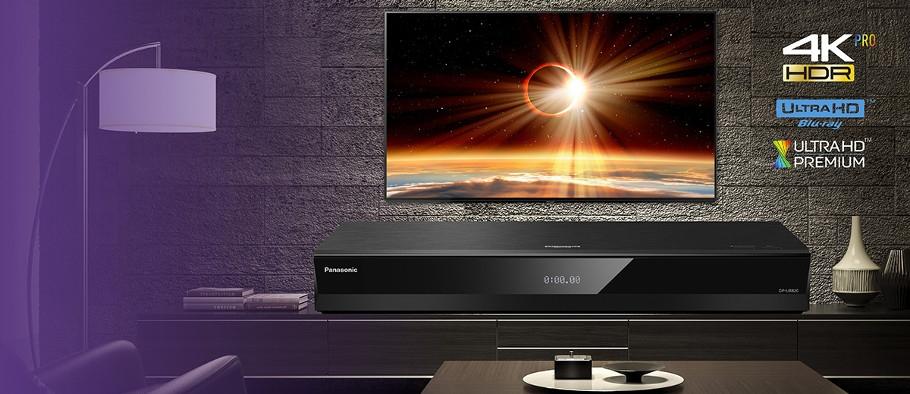 PANASONIC DP-UB820,  Lecteur Blu-ray 4K UHD, HDR10+, Dolby Vision, Hi-Res Audio, Wi-Fi, DLNA, USB