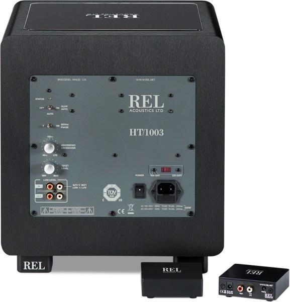 REL HT1003, caisson de basses, système optionel sans fil