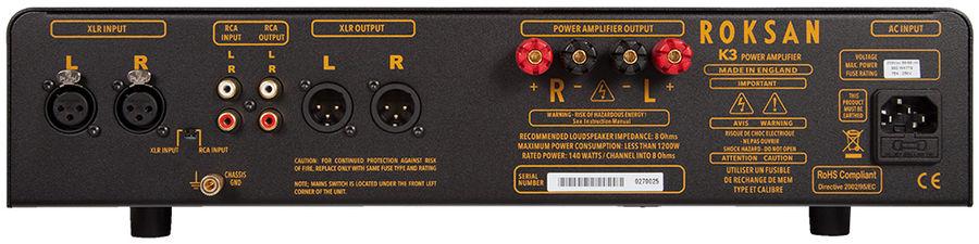 Amplificateur de puissance, circuit symétrique, Roksan K3