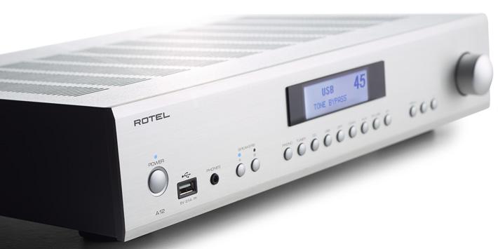Amplificateur stéréo intégré Rotel A-12, 5 entrées numériques