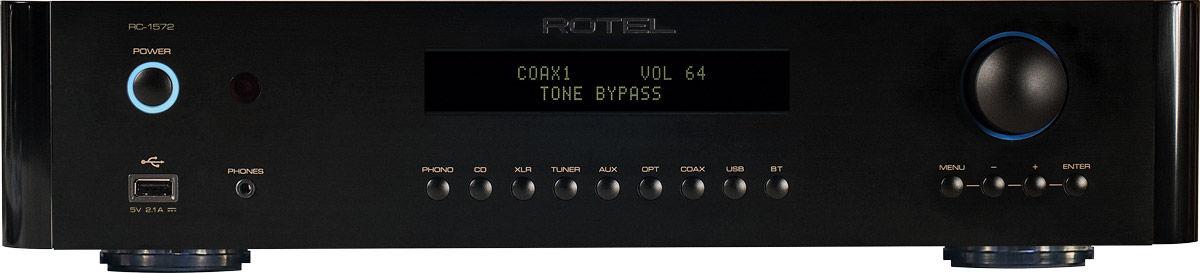 Préamplificateur Rotel RC1572, 768 kHz/32 bits et DSD 5,8 MHz
